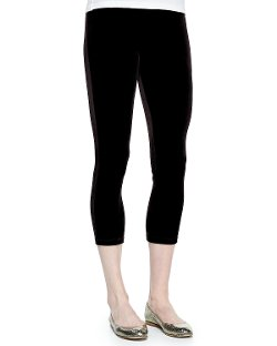 Joan Vass   - Cropped Velour Leggings