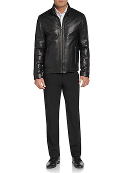 Saks Fifth Avenue Collection  - Classic Leather Moto Jacket