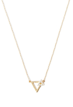 Forever 21 - Rhinestone Geo Charm Necklace