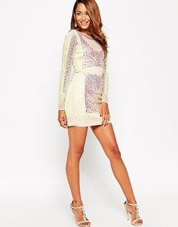 Asos - Embellished Mirror Pastel Dress