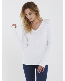 Boxie Tees - Long Sleeve Reversible Vneck Shirt