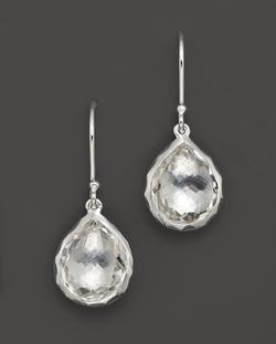 Ippolita - Sterling Silver Rock Candy Teeny Teardrop Earrings In Clear Quartz