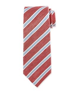 Kiton - Diagonal-Stripe Silk Tie