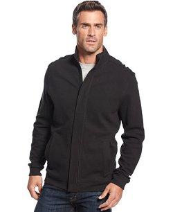 Tasso Elba  - Birdseye Full-Zip Long Sleeve Shirt Jacket