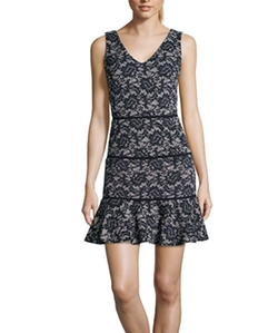 Nicole Miller - V-Neck Sleeveless Dress