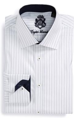 English Laundry  - Trim Fit Stripe Dress Shirt