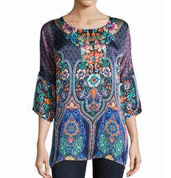 Johnny Was - Malakye Dolman-Sleeve Floral-Print Top