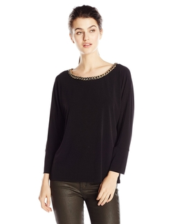 Calvin Klein - Dolman With Braid Chain Top