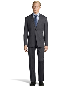 Versace  - Solid Two Piece Wool Suit