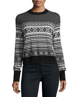 Veronica Beard - Mixed-Media Pleat Back Sweater