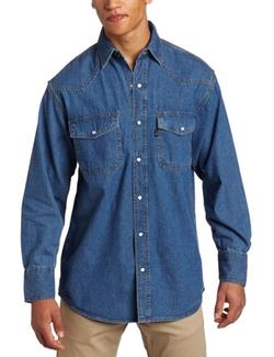 Key Apparel  - Enzyme Washed Western Snap Denim Shirt
