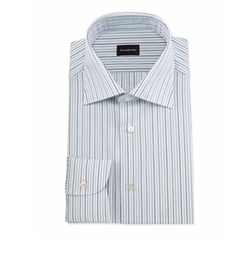 Ermenegildo Zegna - Alternating-Striped Dress Shirt
