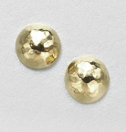 Ippolita -  Glamazon Yellow Gold Pin Ball Stud Earrings
