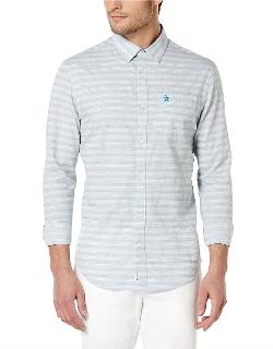 Original Penguin - Slim Fit Horizontal Stripe Sportshirt