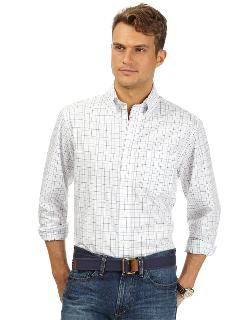 Nautica  - Anchor Stripe Wrinkle-resistant Sport Shirt