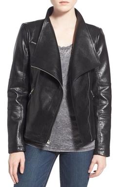 Guess  - Asymmetrical Zip Faux Leather Jacket