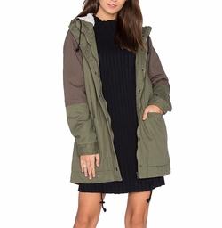 RVCA - Midnight Faux Fur Lined Jacket