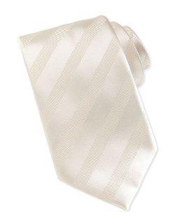 Brioni   - Textured-Stripe Silk Tie