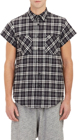 Fear Of God - Side-Zip Short-Sleeve Flannel Shirt