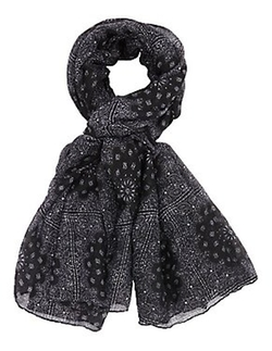 Charlotte Russe - Paisley Print Wrap Scarf