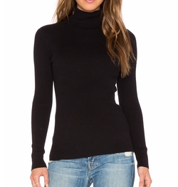 525 America - Solid Rib Turtleneck Sweater