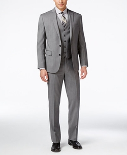 Ryan Seacrest Distinction - Hairline Slim-Fit Vested Suit