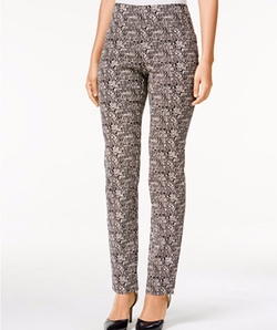 Charter Club  - Cambridge Printed Straight-Leg Pants
