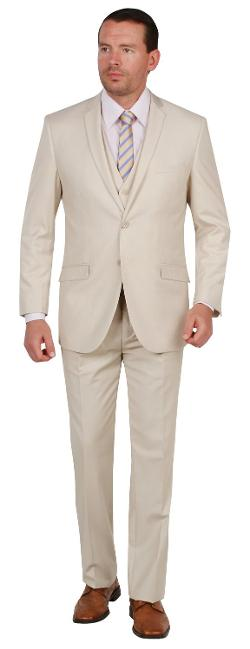 Tazio  - Mens Suit 2 Button 3 Piece Slim Fit