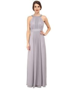 Eliza J - Beaded Neckband Chiffon Gown