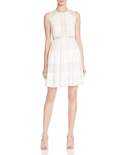 Sandro - Rosaria Lace Inset Dress