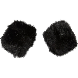 River Island - Faux Fur Snap On Cuffs