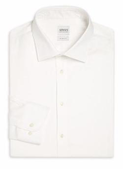 Armani Collezioni  - Slim-Fit Solid Dress Shirt