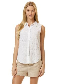 C&C California - Sleeveless Eyelet Shirt
