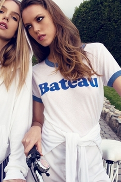 Wildfox Couture  - Bateau Vintage Ringer Tee