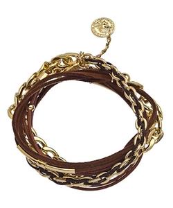 Andara - Chain Suede Wrap Bracelet
