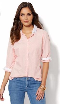 Madison - Madison Shirt - Clip-Dot Pinstripe