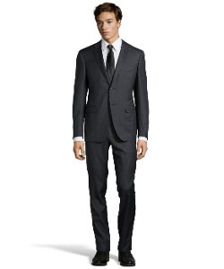 Canali  - Pinstripe Wool Button Suit