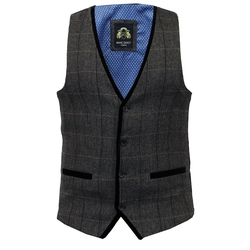 Marc Darcy - Stylish Herringbone Vest