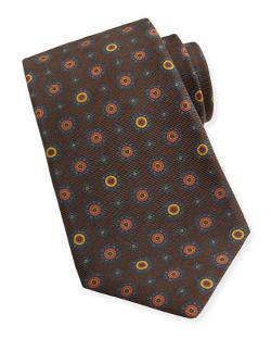 Kiton  - Medallion-Print Woven Tie