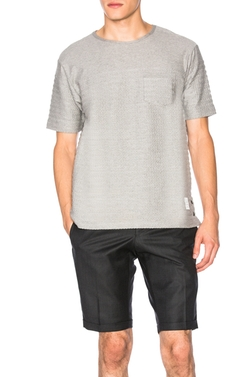 Thom Browne  - Engineered Rope Stitch Pocket T-Shirt
