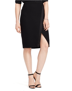 Ralph Lauren - Asymmetrical-Slit Pencil Skirt