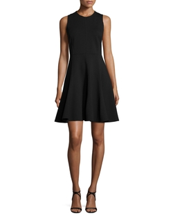 Halston Heritage  - Ponte Sleeveless Fit-&-Flare Dress