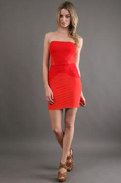 Boulee  - Serena in Hot Coral/ Chic Red