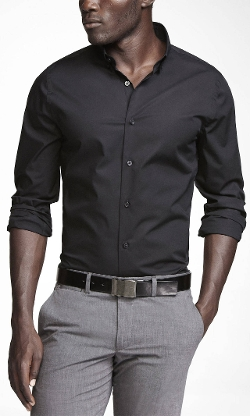 Express - Extra Slim Button-Down Collar Shirt