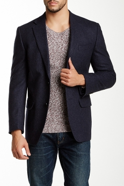 Tailorbyrd - Sharkskin Two Button Notch Lapel Wool Blazer