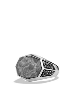 David Yurman  - Meteorite Signet Ring