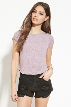 Forever 21 - Raw-Cut Slub Knit Tee