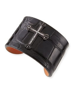 Katie Design Jewelry - Crown The Cross Alligator Cuff Bracelet