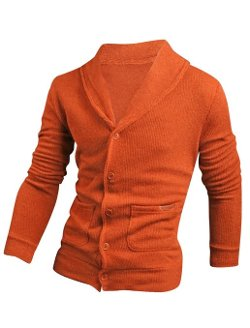 Uxcell - Shawl Collar Cardigan Sweater