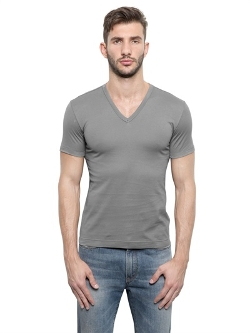 Dolce & Gabbana - V-Neck Light Cotton Jersey T-Shirt